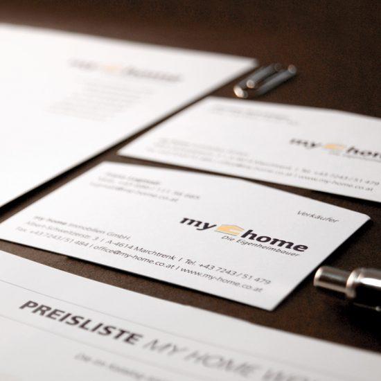 Branding einer regional tätigen Eigenheimbaufirma / Corporate Design