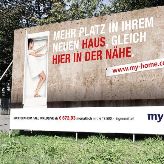 Branding einer regional tätigen Eigenheimbaufirma / Plakate