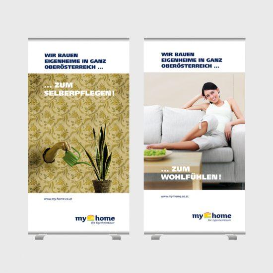 Branding einer regional tätigen Eigenheimbaufirma / Rollups