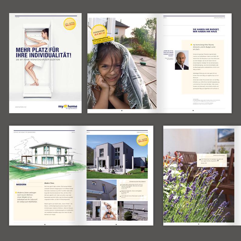 Branding einer regional tätigen Eigenheimbaufirma / Produktkatalog