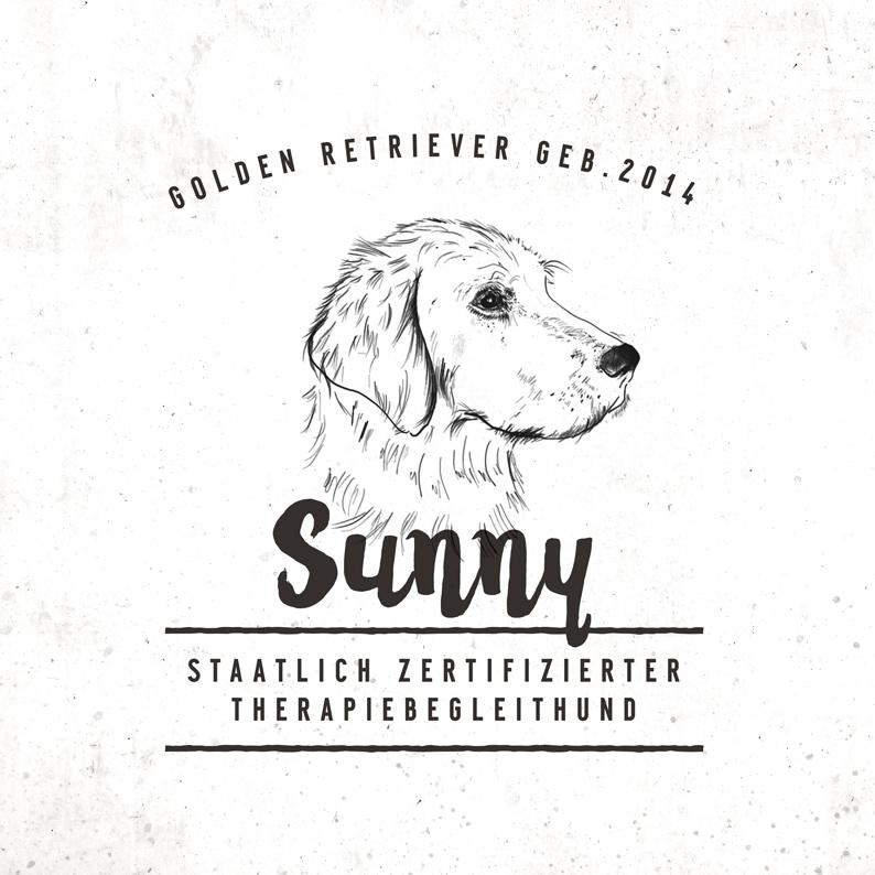 Branding / starkewurzeln.at / Logo, Therapiehund Sunny;