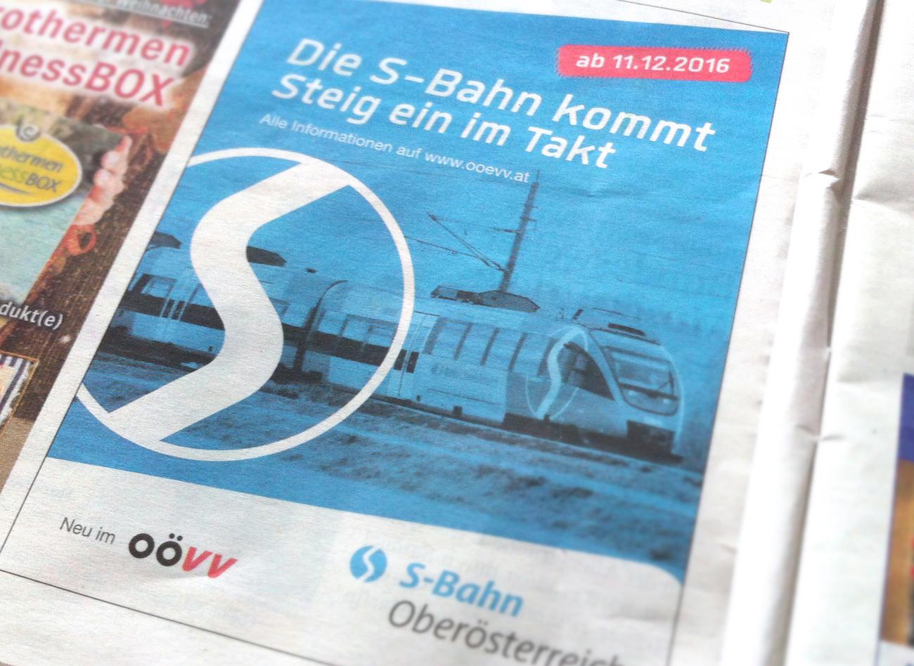 S-Bahn Oberösterreich / Inserat