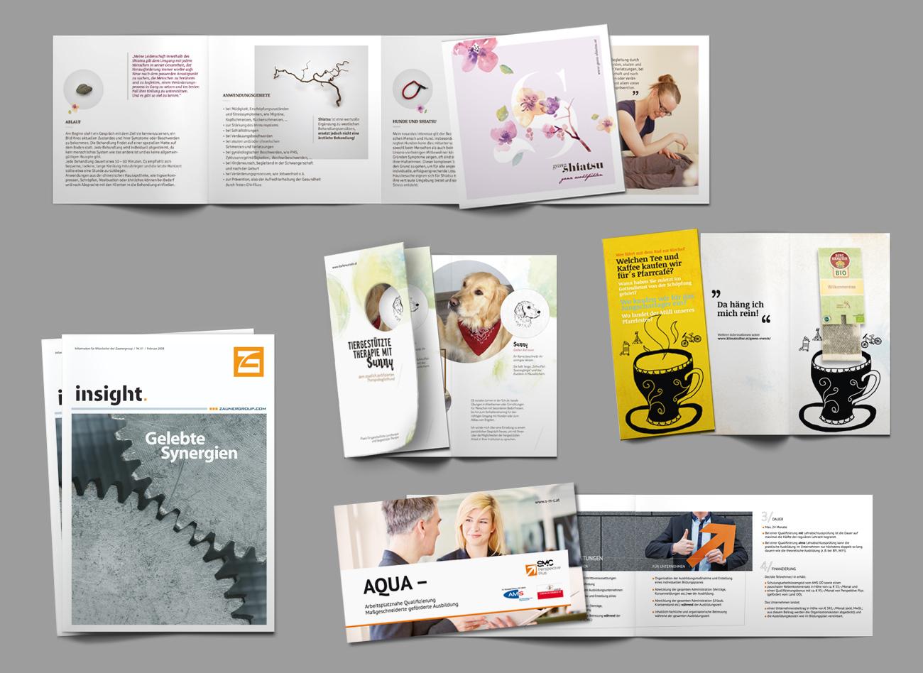 Diverse Magazine, Folder und Broschüren;