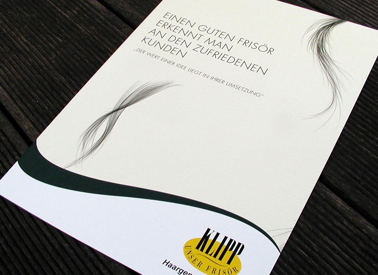 Titelseite der Klipp Imagebroschüre;