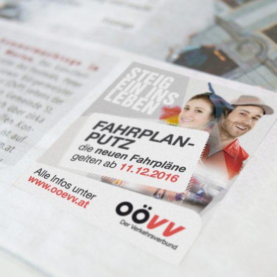 OÖ Verkehrsverbund / diverse Inserate