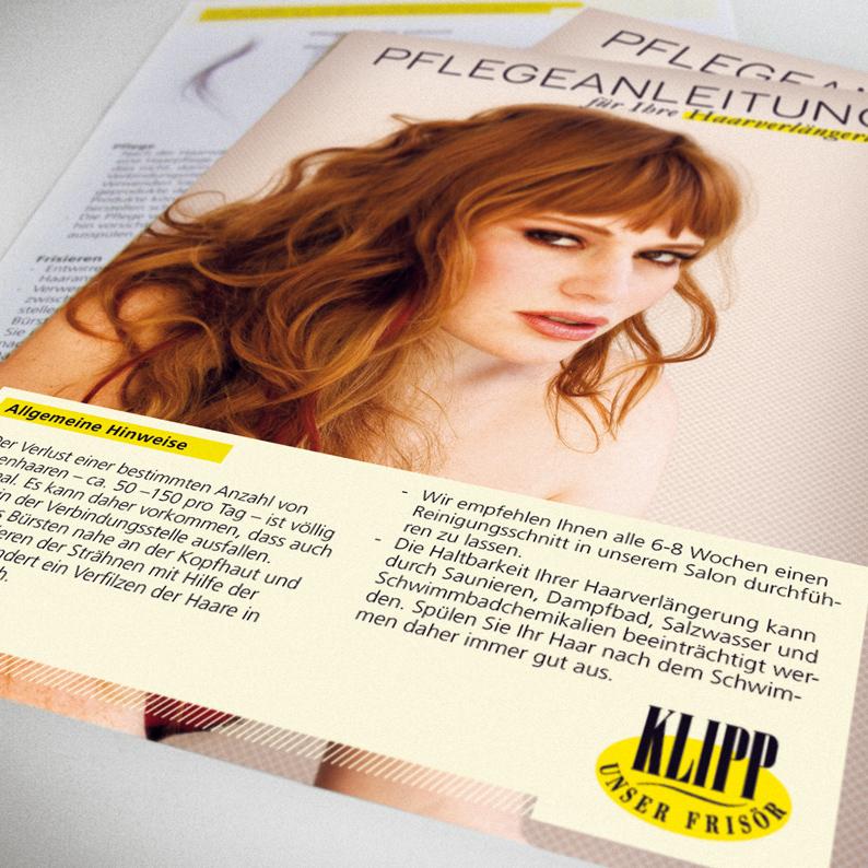 Klipp Frisöre / Haarverlängerungskampagne / Infoflyer