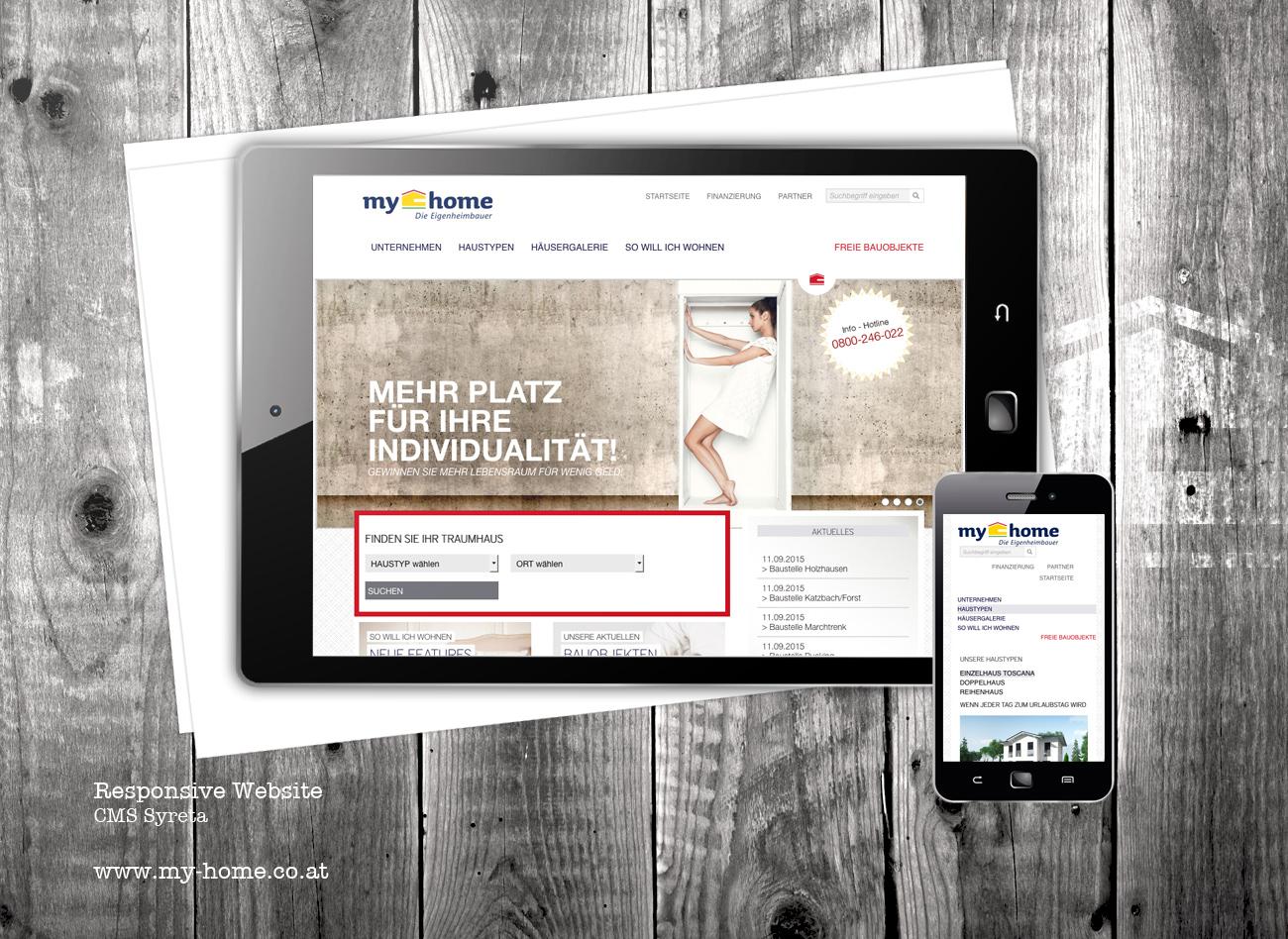 Responsive Website für my home / Die Eigenheimbauer