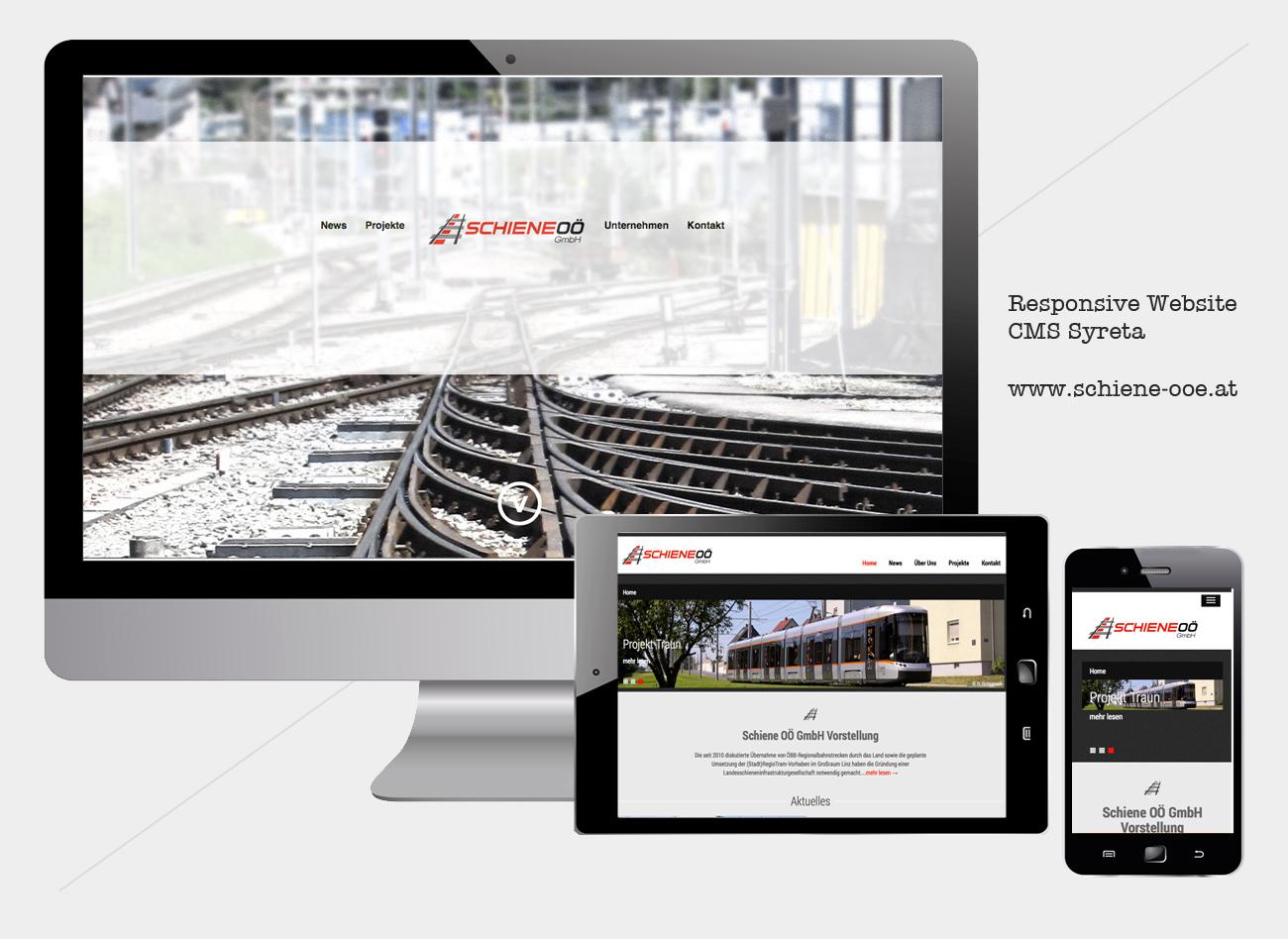 Responsive Website für Schiene OÖ