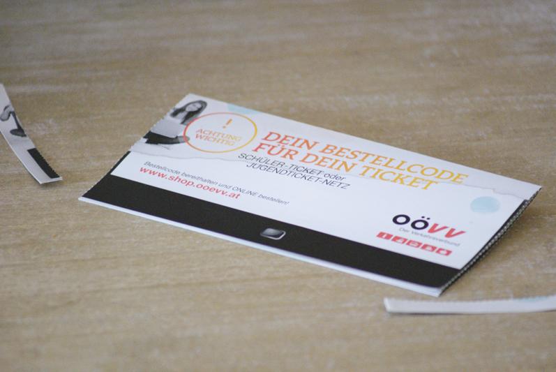 Bestellcode-Flyer