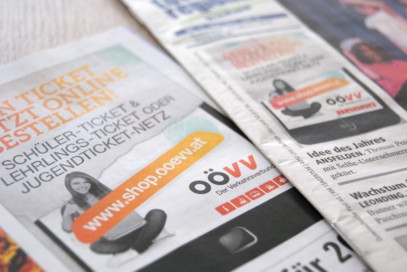 Anzeigen in diversen Medien