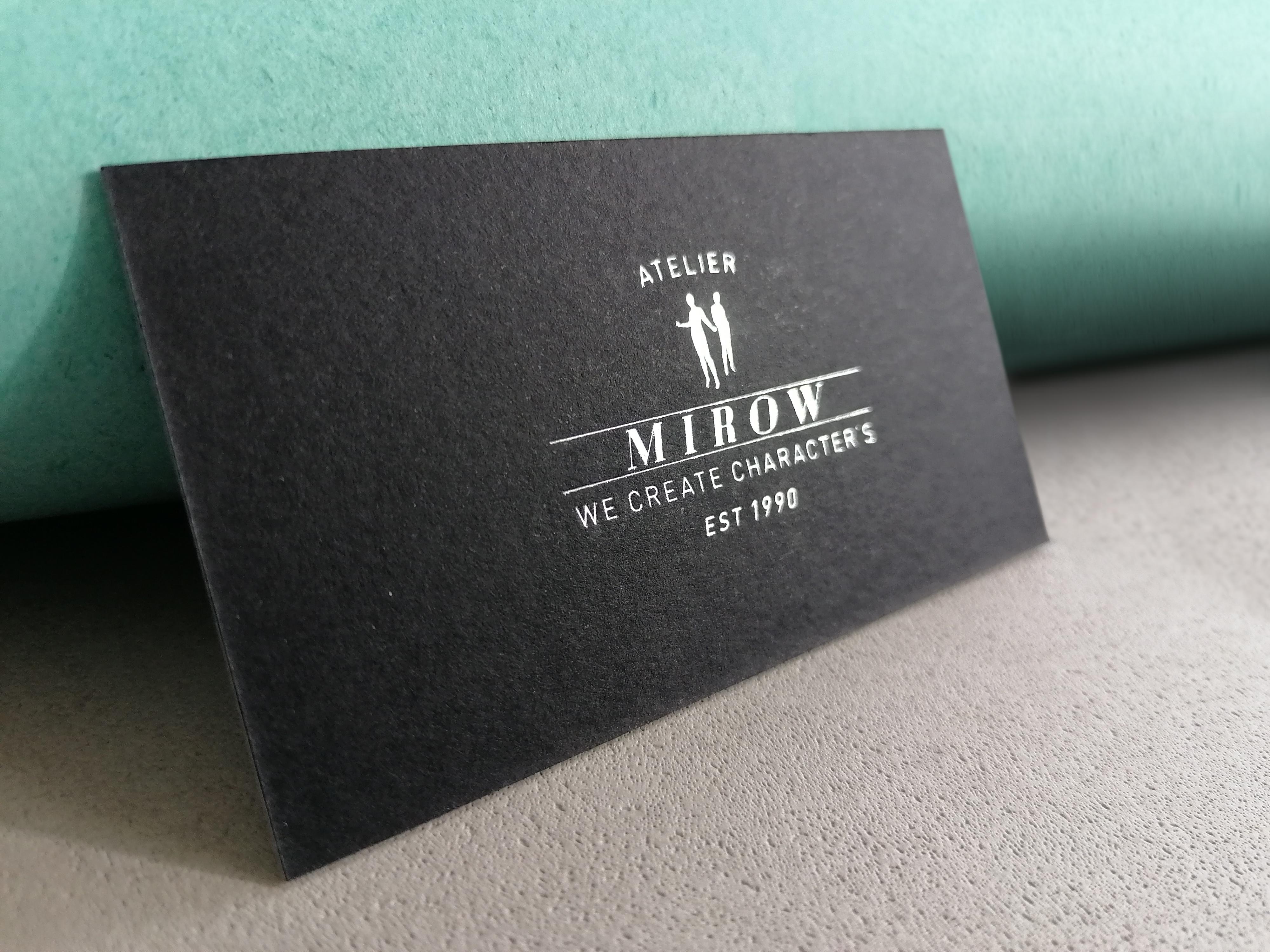 Visitenkartengestaltung Atelier Mirow