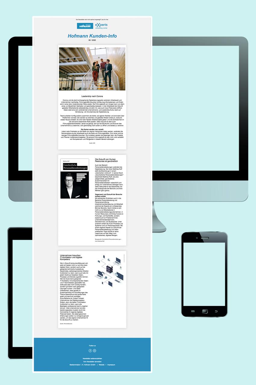 Gestaltung Email-Newsletter